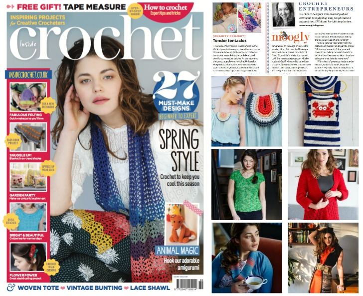 Inside Crochet - gorgeous UK crochet magazine! Find out where to get it at Mooglyblog.com!