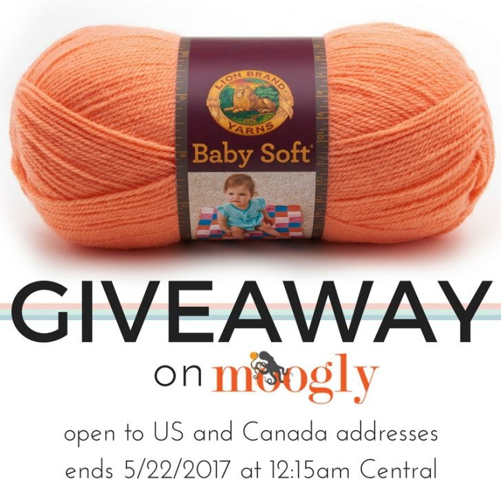 Win 5 balls of Lion Brand Baby Soft on Mooglyblog.com! Ends 5/22/17!