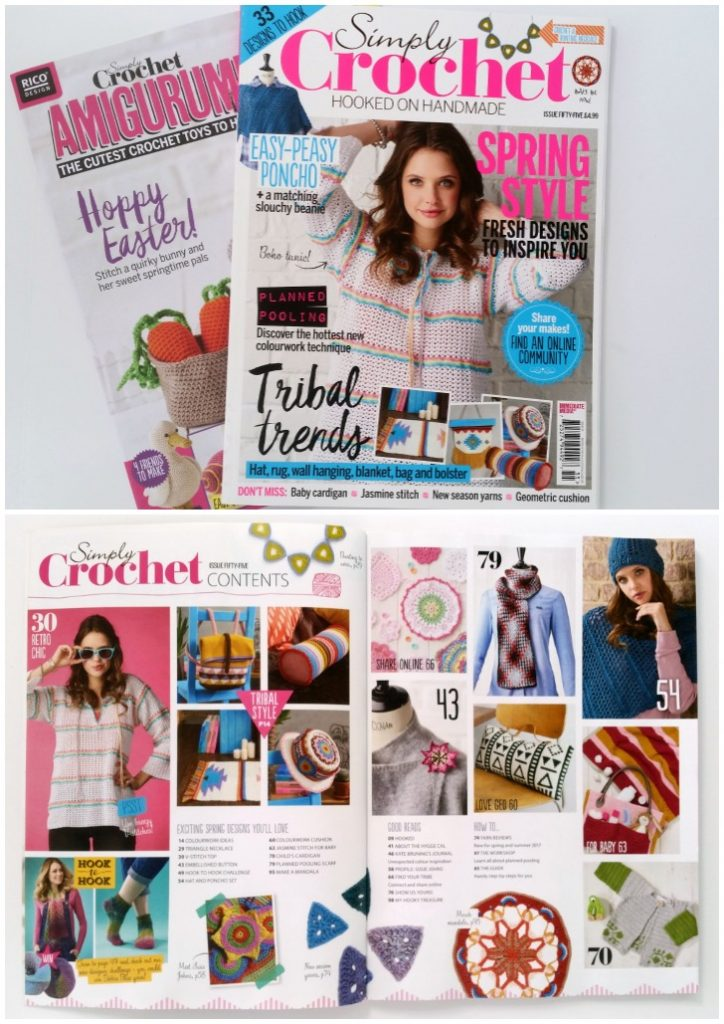 Simply Crochet Magazine - one of the happiest, pretties crochet magazines out there! Find out where to get it at Mooglyblog.com!