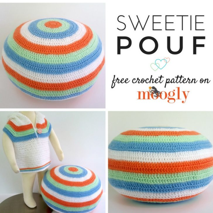 Sweetie Pouf - free pattern on Mooglyblog.com! Crafts for real life ♥