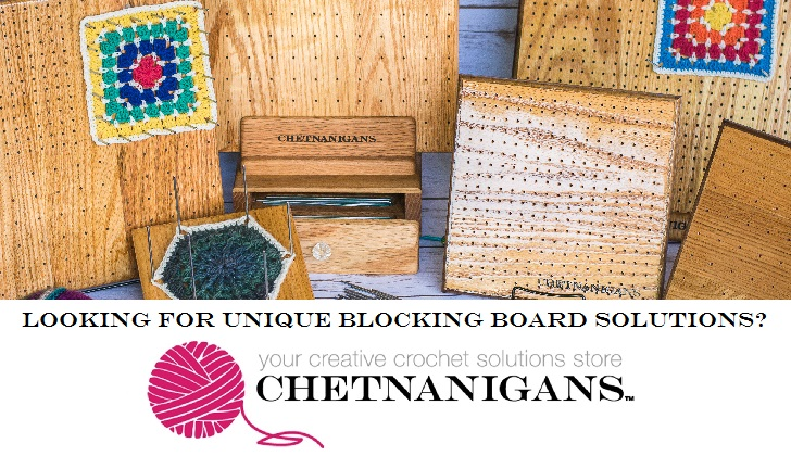 Get perfect squares with the Chetnanigans blocking boards - they make crochet blocking SO EASY!