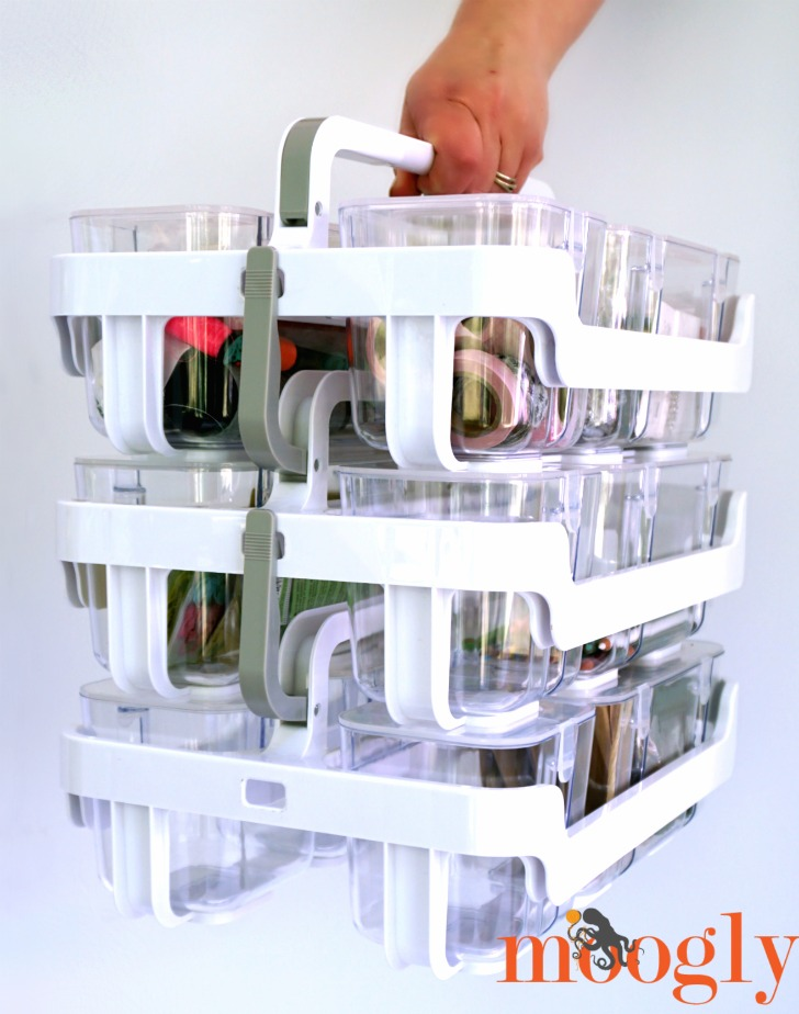 Deflecto Craft Caddy Organizer System - review on Moogly!
