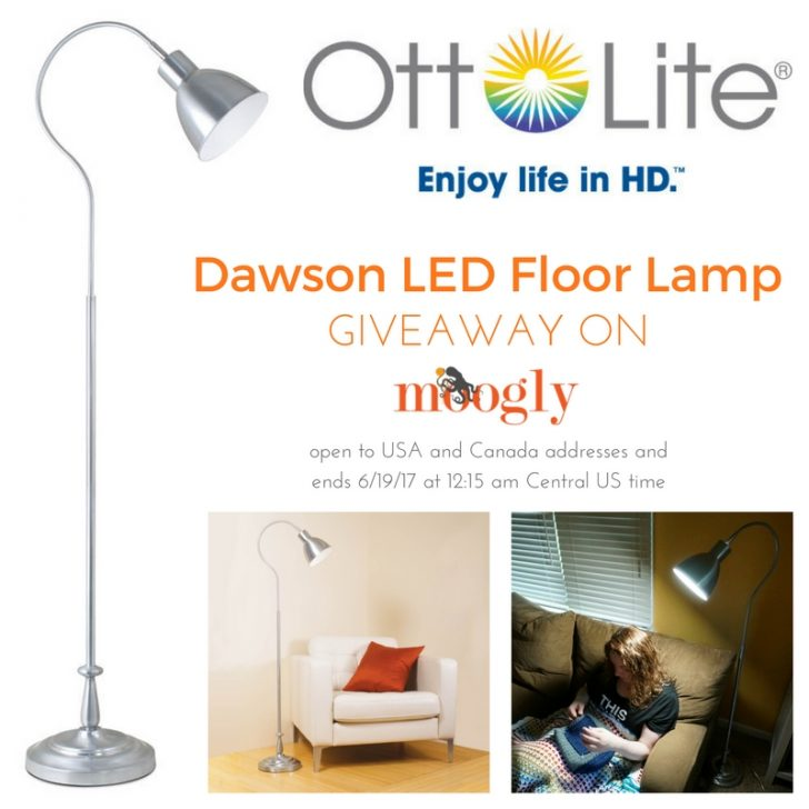 OttLite Dawson LED Floor Lamp: Giveaway on Moogly! Ope to USA and Canada addresses and ends 6/19/17 at 12:15 am Central US time