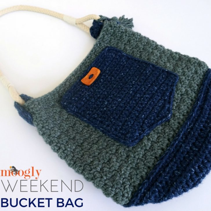 Weekend Bucket Bag: free crochet pattern on Mooglyblog.com!