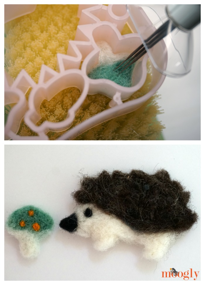 Needle felting appliques with Clover Tools!
