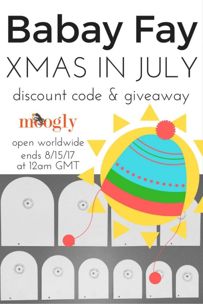 It's Babay Fay's Xmas in July! Get great deals on hat templates - and enter to win the Children's Set on Mooglyblog.com! Giveaway open worldwide, ends August 15, 2017 at 12a,m GMT (7pm Central US time