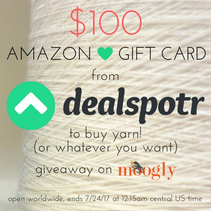 Win a $100 Amazon Gift Card on Moogly, courtesty of Dealspotr - helping you save $$ across the web! Giveaway ends 7/24/17 at 12:15 am Central US time.