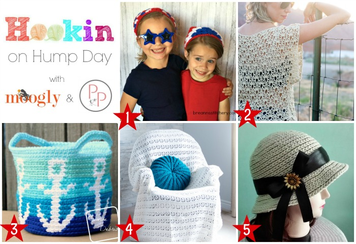 Hookin On Hump Day #146: Join the very best yarny link party on Moogly and Petals to Picots!