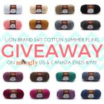 Lion Brand 24/7 Cotton Summer Fling Giveaway!