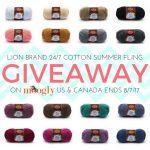 Lion Brand 24/7 Cotton Summer Fling Giveaway!