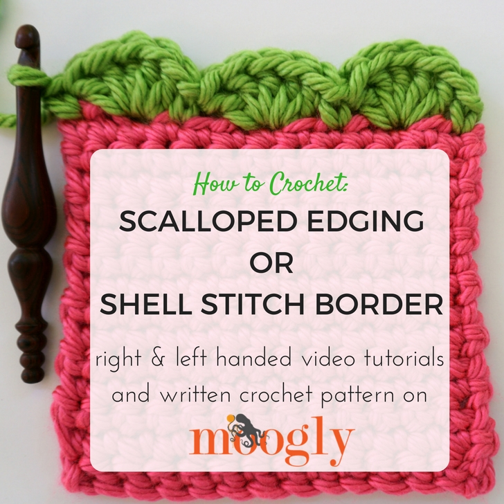 Scalloped Edging Or Shell Stitch Border Moogly