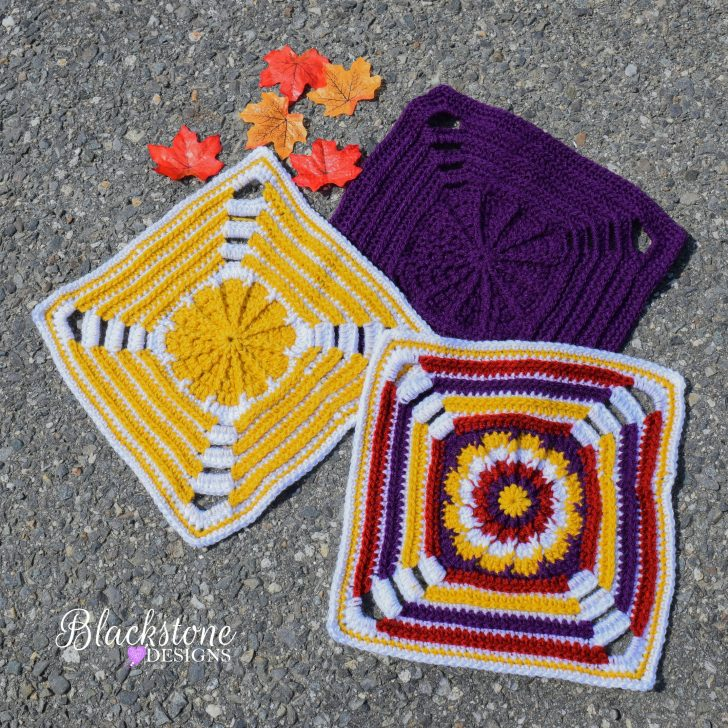 MooglyCAL 2017 Block #18 - Botanical Garden Square by Blackstone Designs! Get this free crochet pattern and all the rest for the yearlong crochet along on Mooglyblog.com!