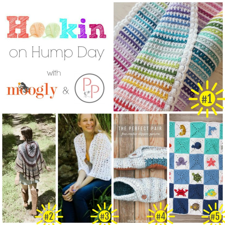 Hookin On Hump Day #149 - link party featuring the hottest new crochet and knitting on Moogly and Petals to Picots! Get the links to all these gorgeous patterns!