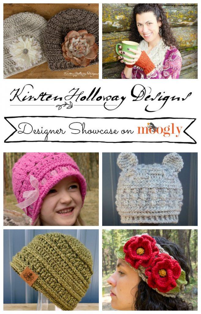 Kristen Holloway Designs - in the Moogly Designer Showcase! Get 5 FREE crochet patterns from this talented designer!