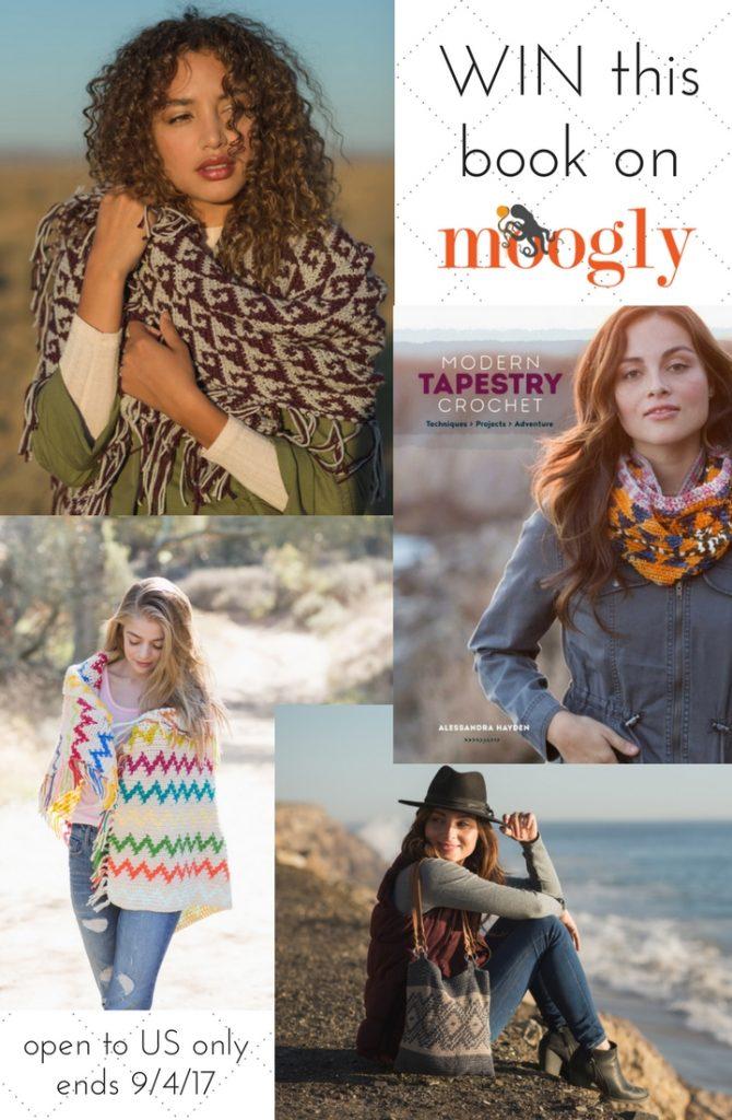 Modern Tapestry Crochet by Alessandra Hayden - win a copy on Mooglyblog.com! Giveaway ends 9/4/17