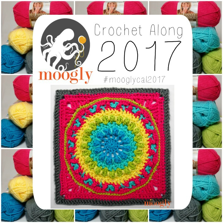 Block #17 in the 2017 Moogly CAL - free by Persia Lou!