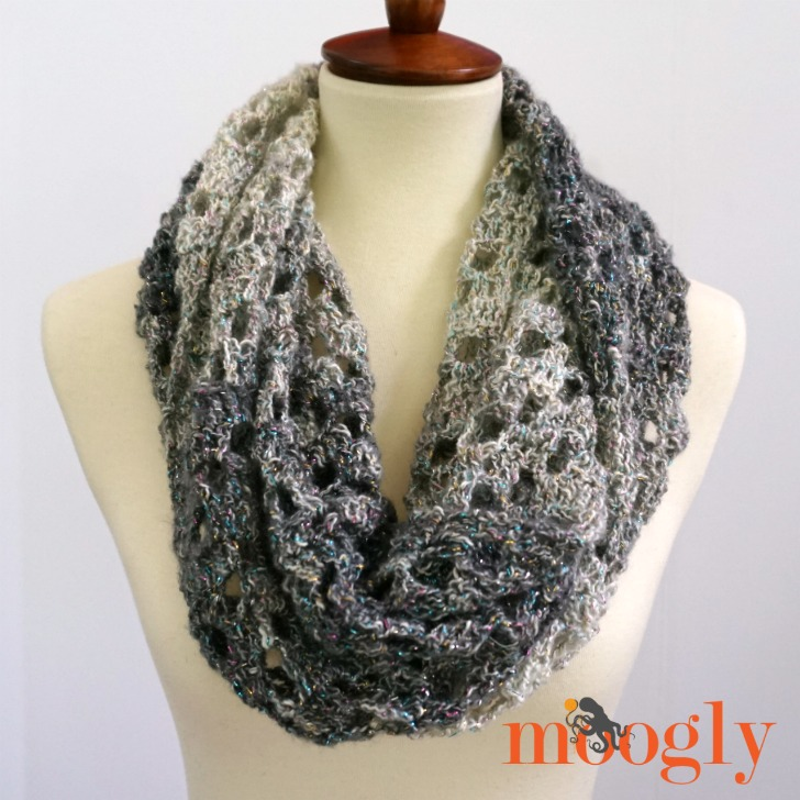 Opal Arrows Infinity Scarf Free Crochet Pattern On Moogly