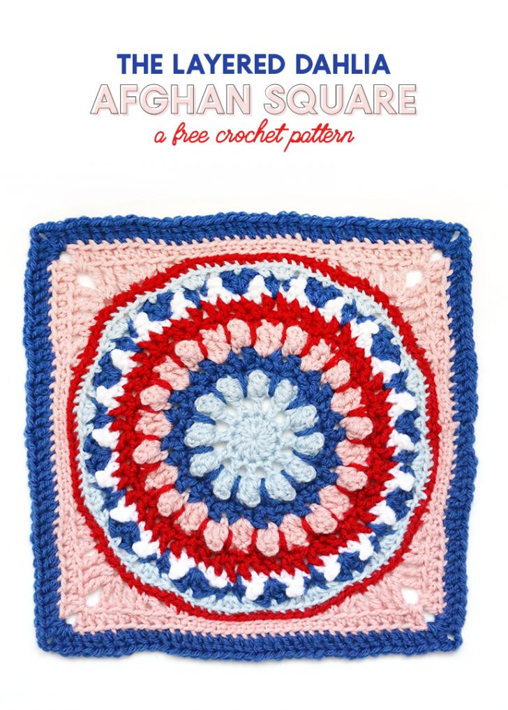 The Layered Dahlia by Persia Lou: Block #17 of the Moogly Afghan CAL!