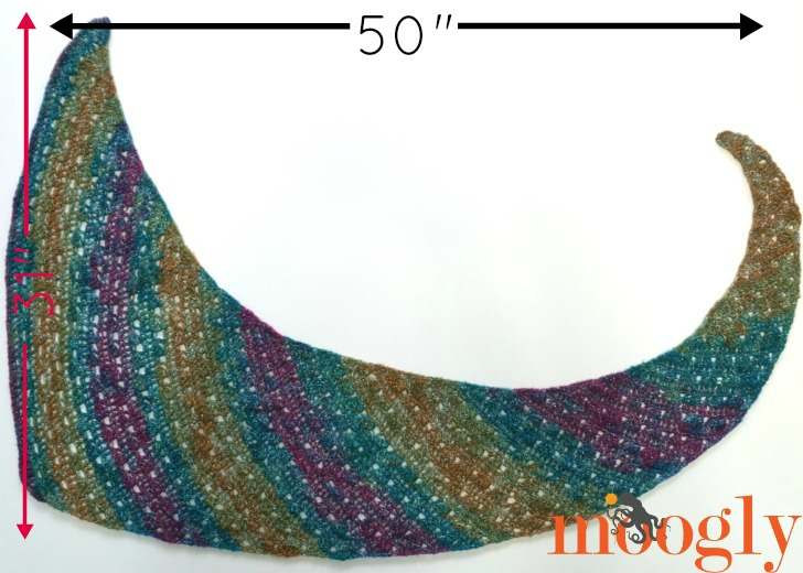Tango Shawl Free One Skein Crochet Pattern On Moogly