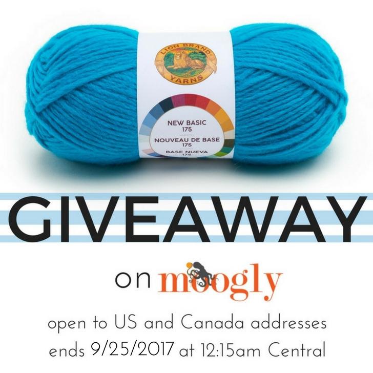 Lion Brand Basic - win 5 balls on Mooglyblog.com! Giveaway ends 9/25/17