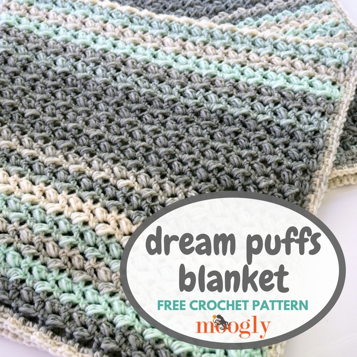 Dream Puffs Blanket Free Crochet Pattern On Moogly