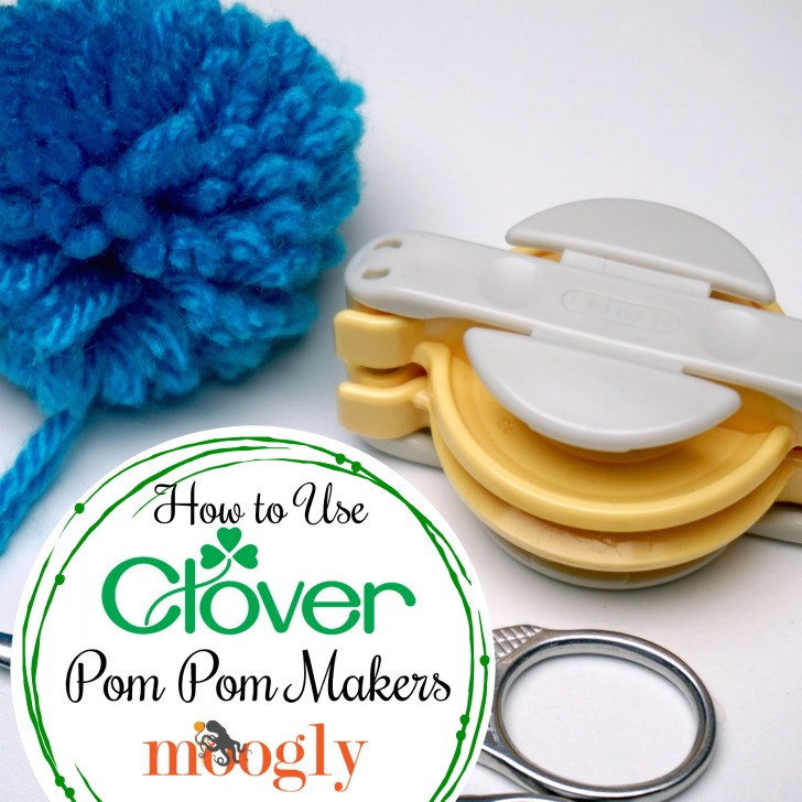 Clover Pom Pom Maker Tutorial on Mooglyblog.com!