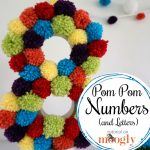 Pom Pom Numbers and Letters for your next party - tutorial on Mooglyblog.com!