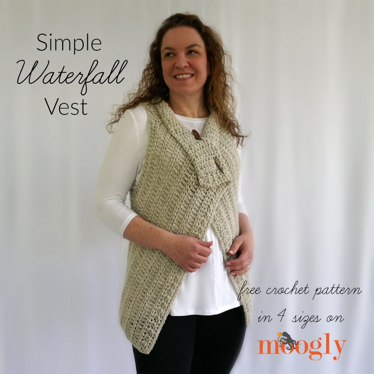 Simple Waterfall Vest Free Crochet Pattern On Moogly