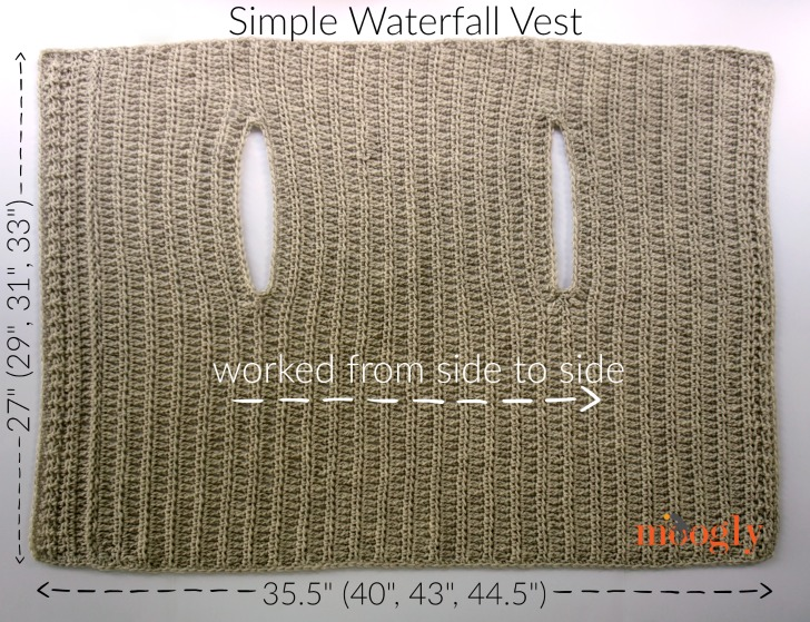Simple Waterfall Vest - free crochet pattern in 4 sizes (Small to 5X) on Moogly!