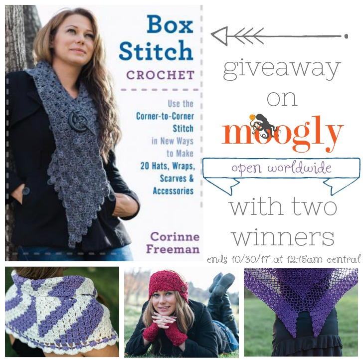 Box Stitch Crochet - Giveaway on Moogly! Open worldwide, ends 10/30/17 at 12:15am Central US time
