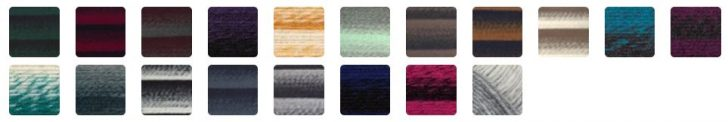 Gorgeous colors of Lion Brand Scarfie Yarn!