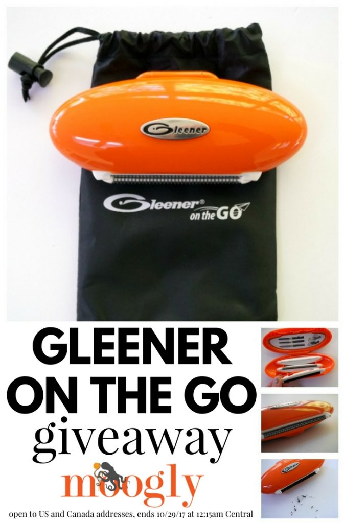 Gleener on the Go - giveaway on Moogly! Open to US and Canada addresses, ends 10/29/17 at 12:15am Central.