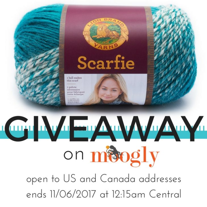 Win Lion Brand Scarfie on Moogly! Open to US and Canada, ends 11/06/17 at 12:15am Central