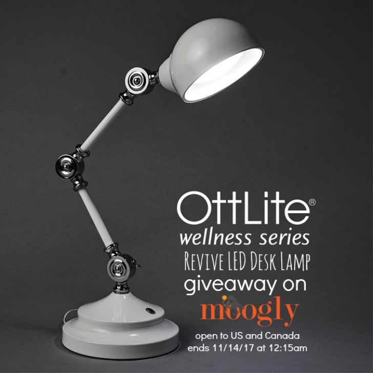 Revive Your Eyes with the OttLite Wellness Series - Giveaway on Moogly! Open to US and Canada addresses, ends 11/14/17 at 12:15am US Central Time.