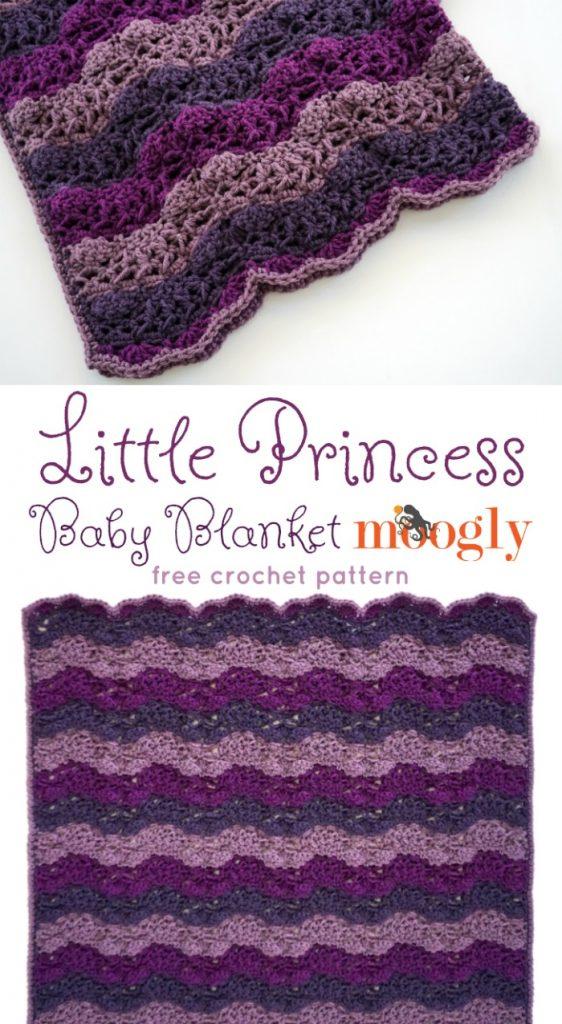 Little Princess Baby Blanket Free Crochet Pattern On