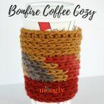 Bonfire Coffee Cozy - free crochet pattern on Mooglyblog.com!