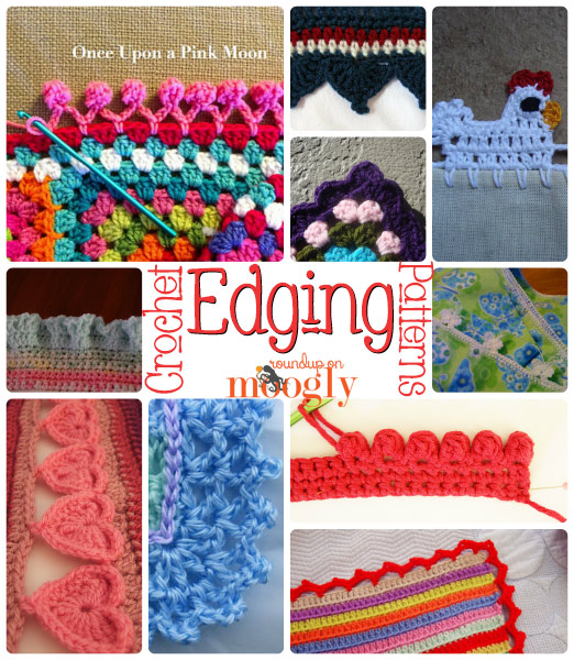 Free Crochet Edging Patterns on Mooglyblog.com!