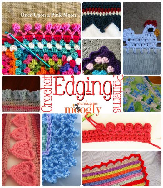 Free Crochet Edging Patterns on Mooglyblog.com!