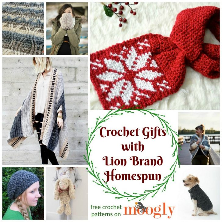 Crochet Gifts With Lion Brand Homespun Moogly