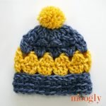 Ethan Baby Beanie - free crochet pattern in 3 sizes on Mooglyblog.com!