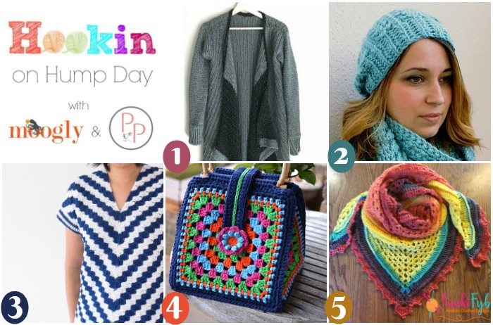 Hookin On Hump Day #154 - get all these patterns on Moogly and Petals to Picots - and add your own links too!