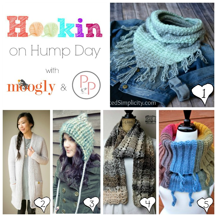 HOHD 155 - get all 5 of these FREE crochet patterns on Moogly and Petals to Picots (and designers, add your links for a chance to be featured!)