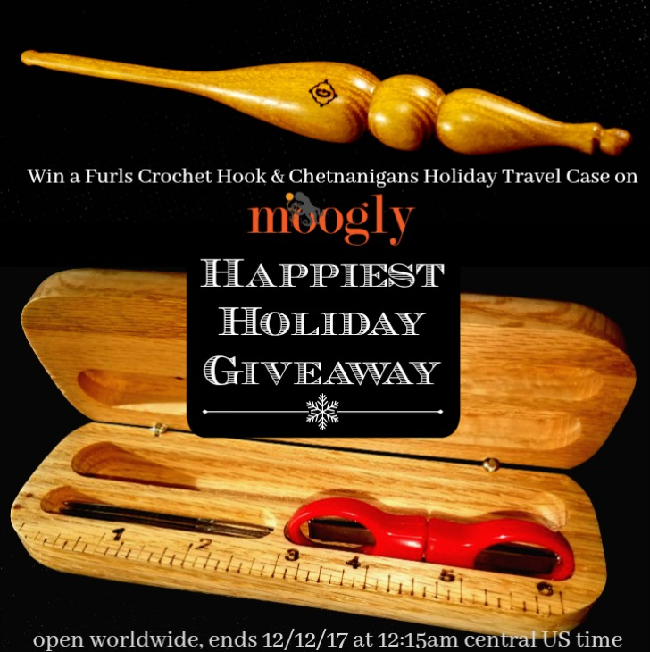 Happiest Holiday Giveaway on Moogly! Win a Furls Crochet Alpha Hook and a Chetnanigans Holiday Travel Case on Moogly! Open worldwide, ends 12/12/17 at 12:15am Central US time.