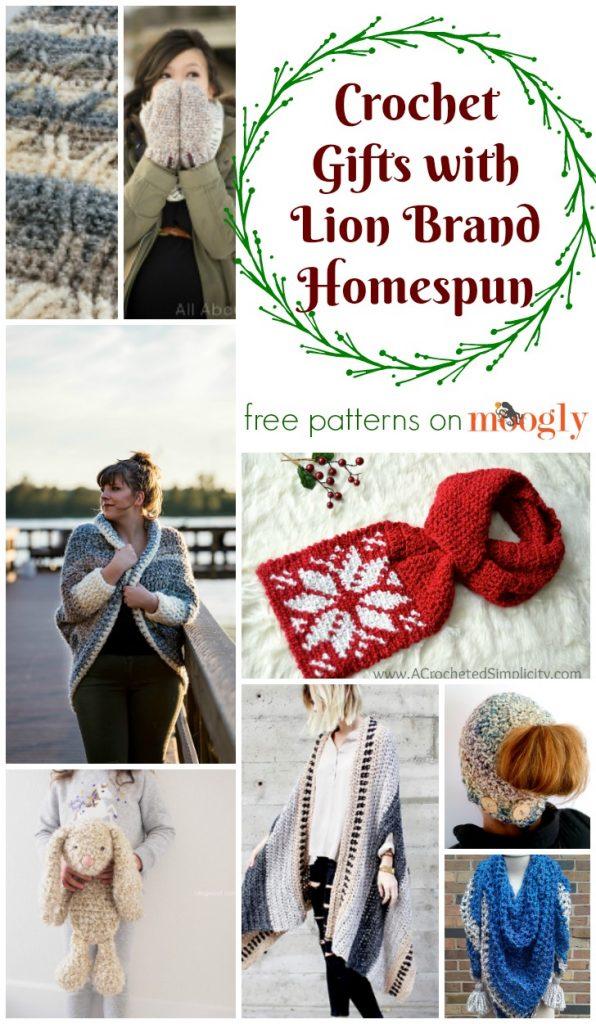 Crochet Gifts With Lion Brand Homespun Moogly