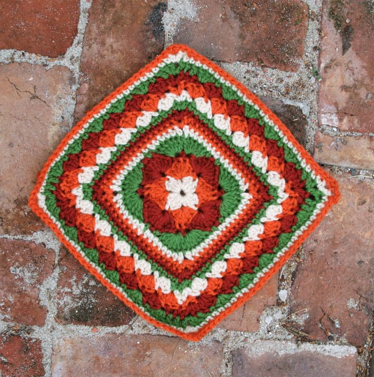 Deborah's Diamond Square by Linda Dean Crochet - Block #24 in the Moogly Afghan CAL for 2017!