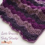 Little Princess Baby Blanket - free crochet pattern on Mooglyblog.com!