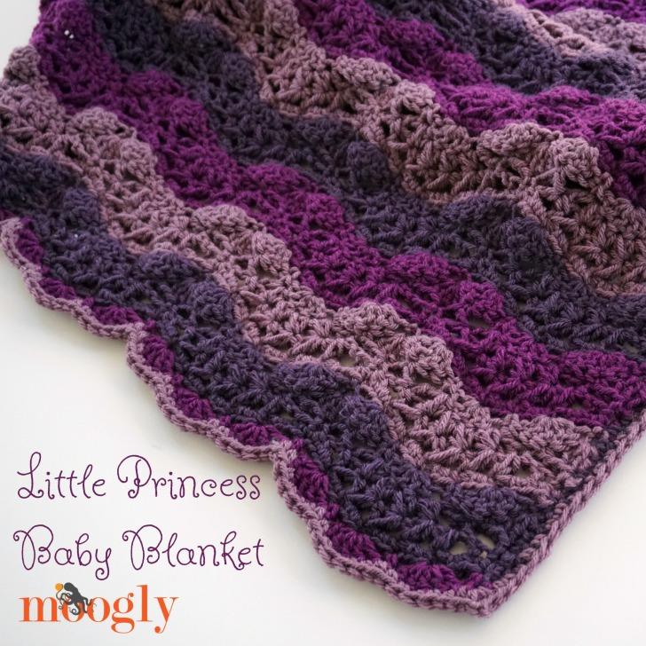 Little Princess Baby Blanket Free Crochet Pattern On Moogly