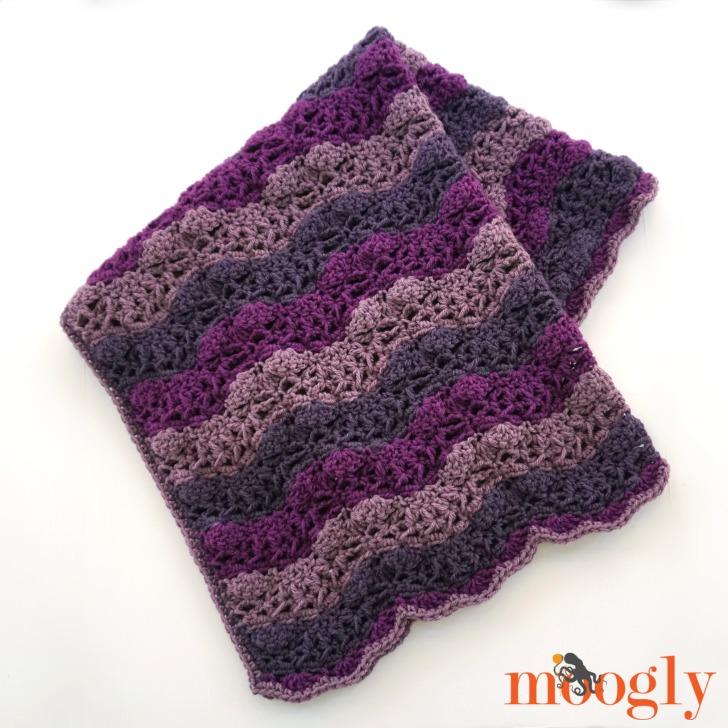 Little Princess Baby Blanket - free crochet pattern on Mooglyblog.com!