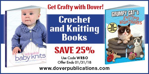 Get 25% off Crochet and Knitting Books from Dover!