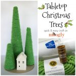 How to make your own Tabletop Christmas Trees - quick and easy craft (for the whole family!) on Moogly